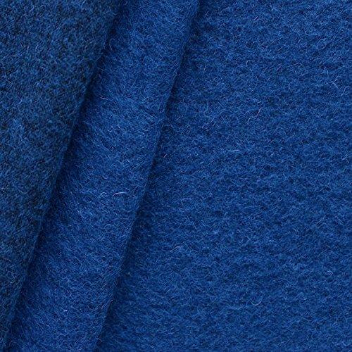 STOFFKONTOR Wollmix Walkstoff, Lana Cotta Stoff Meterware, Farbe Royal-Blau - zum Nähen von Mänteln, Jacken, Röcken, Mützen, Dekoartikeln uvm.