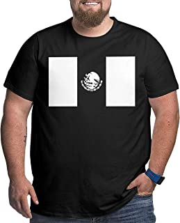 XPEACH Men's Plus-Size T-Shirt Mexico Flag 2 Big and Tall Short-Sleeve Large Size Tee