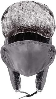 SoTeer Trooper Hat for Men Waterproof Winter Warm Hat with Ear Flaps Windproof Mask Winter Hunting Hat