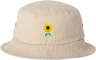 Adult Sun Flower Embroidered Bucket Cap Dad Hat
