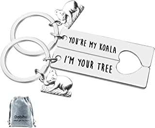 Funny Koala Gift Couple Keychain Koala Lover Gift You're My Koala I'm Your Tree Keyring Set Valentine Day Christmas Gift for Boyfriend Girlfriend Him Her Jewelry