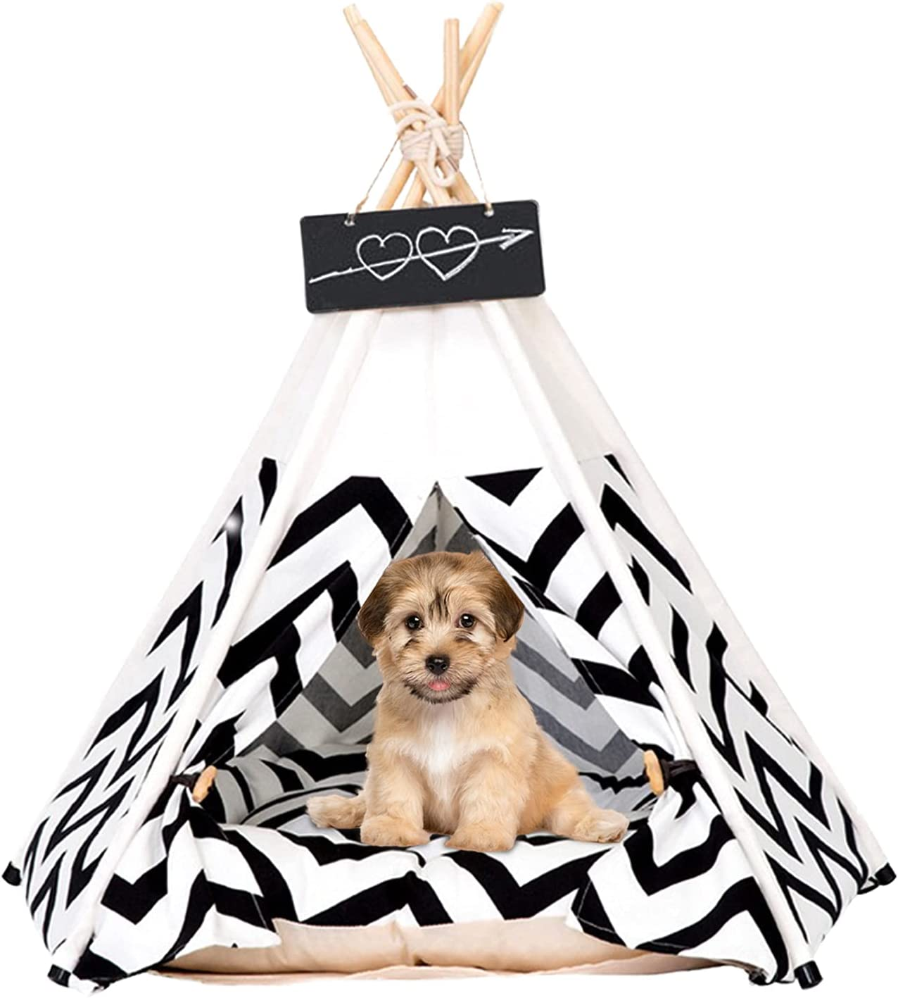 Pet Teepee Tents Miami Mall 24 Inch Portable Quality inspection Bed with Dog Th Indoor