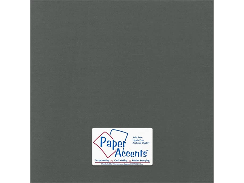 Accent Design Paper Accents Cdstk Canvas 12x12 80# Charcoal
