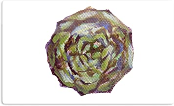 """KESS InHouse Theresa Giolzetti """"Artichoke"""" Brown Green Artistic Aluminum Magnet, 2"""" by 3"""", Multicolor"""