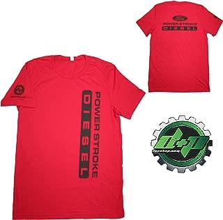 Ford Powerstroke Diesel Tee Truck Shirt DPP Trucker Gear 4X4 Red Large