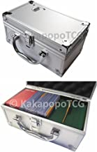 D3 Silver Metal Storage Carry Case Cube for Trading Cards Deck Box Toploader TCG Ultra Pro Protector Sleeve Card Game MTG Magic the Gathering YGO Yugioh Wow Pokemon Match Attax Dice Counter Vanguard
