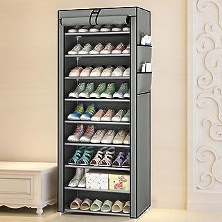 MorNon Rangement Armoire étagères à Chaussures,Meuble à Chaussures Pliant avec Tissu,Étagère à Chaussures,Porte Chaussures...