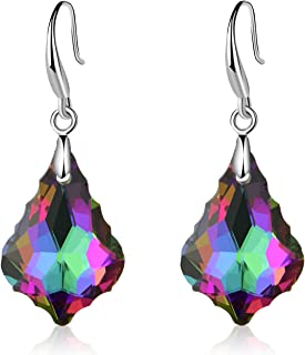 EVEVIC Swarovski Crystal Baroque Teardrop Dangle Hook...