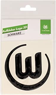 VfL Wolfsburg Aufkleber Logo 3D schwarz