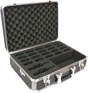 Williams Sound CCS 036 Large Body Pack System Briefcase, 22 Slots; Detachable Shoulder Strap; Pre-Shaped Foam for Storing Two FM/IR Transmitters and Up to 20 Receivers and Accessories