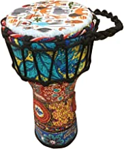 BND Drums Mini Djembe Drum Djembe jembe is a Rope-Tuned Covered Goblet Drum Played with Bare Hands Originally from West Africa (Blue, 6x14)