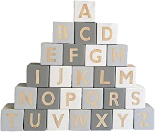 Baoblaze 26Pcs Wooden English Alphabet Blocks Cubes Letters Educational Game Toys Kids Reading Learning Letters Cubes #a