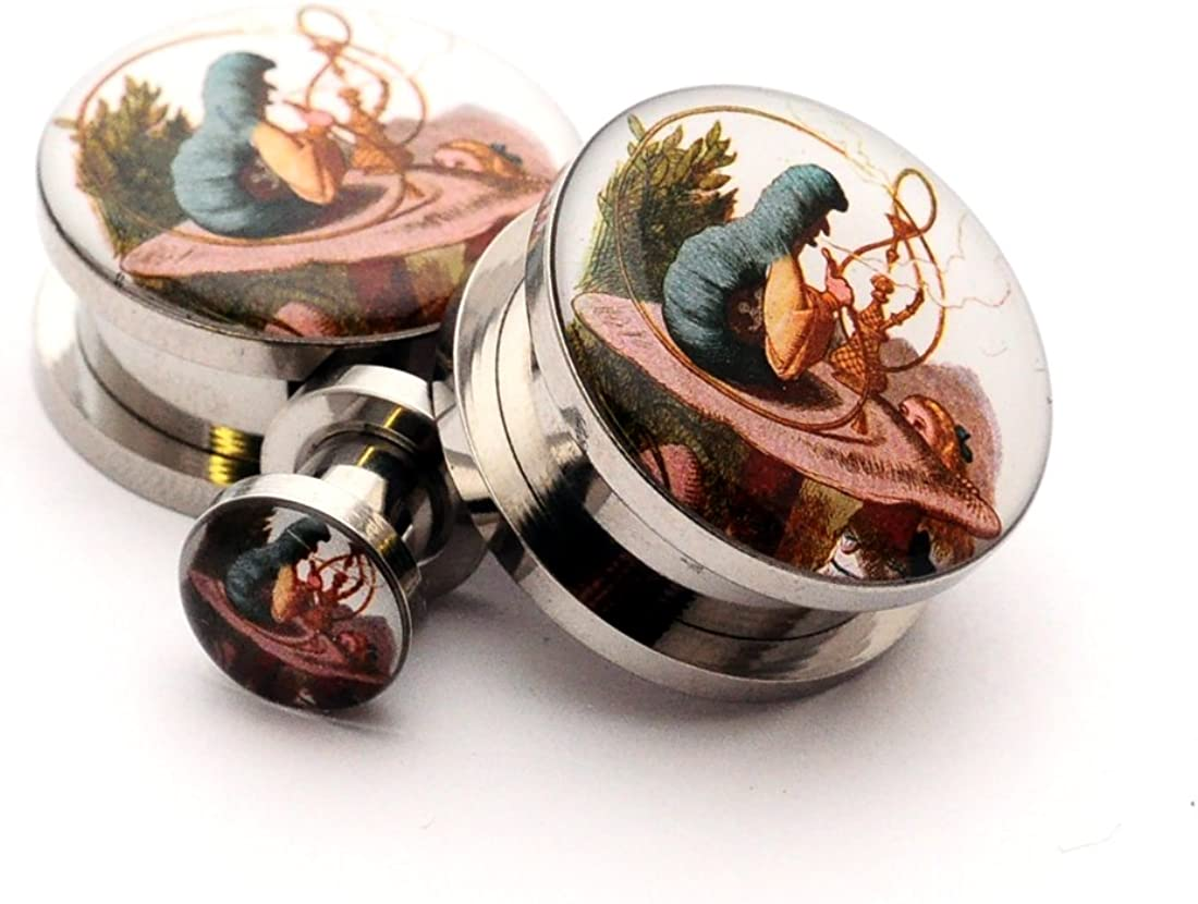Screw on Plugs - Alice In Wonderland Tampa Mall 4 Picture Style 0g National products