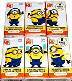 Despicable Me Minions Travel Size Pocket Facial Tissues (2 Ply) SmartCare (12 Individual Packs)