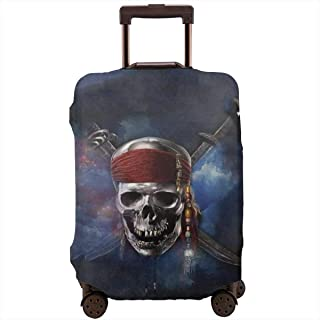 FOLPPLY Funny Colorful Pattern Luggage Cover Baggage Suitcase Travel Protector Fit for 18-32 Inch