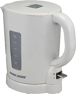 Black+Decker 1.7 Liter Concealed Coil Electric Kettle, White/Grey - JC250-B5, 2 Year Warranty