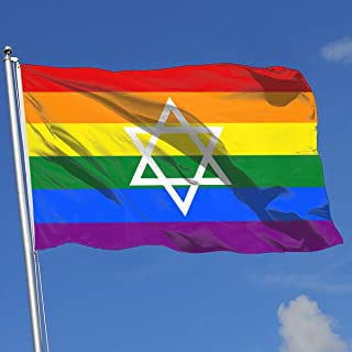 FQ#8FLAG Jewish Gay Pride by Pride-Flags Country Banner Flag Game Flag Indoor Outdoor Flag 3'X5' House Banner