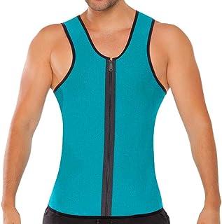 SakuraBest Men's Bodybuilding Sport Fitness Sleeveless Top Vest for Men Zipper Undershirt Tank