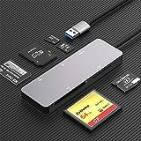 Lector de tarjetas SD,5 en 1 USB 3.0 Adaptador de lector de tarjetas de memoria Velocidad de lectura y escritura de hasta 5 Gbp para CF/XD/SD/M2-TF/MS