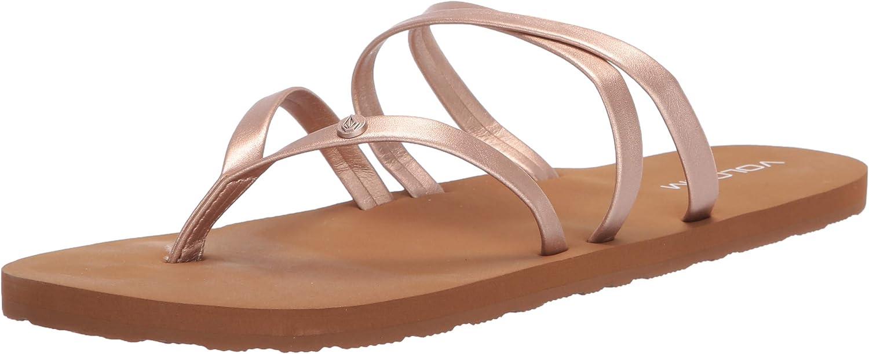 New color Volcom Women's Easy Bargain sale Breezy II Flip Flop Sandals