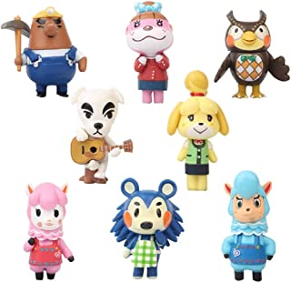 8 Pcs Animal Crossing Action Figure Set - Animals Crossing Kids Toys Cake Toppers Collection Playset