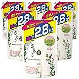 【ケース販売】さらさ 無添加 植物由来の成分入り 柔軟剤 詰め替え 約2.8倍(1250mL)×6袋