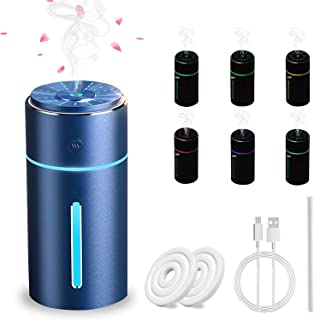 Fegishilly Car Aromatherapy Humidifier, USB Essential Oil Diffuser Ultrasonic Car Humidifier Aromatherapy Diffusers with I...