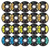 S SATC 20 Pack Flap Discs 40/60/80/120 Grit Grinding Wheel 4.5' x 7/8' High Density Bevel Type Angle Grinder Sanding Disc Abrasive Grinding Disc #29