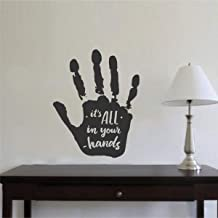 Rawpockets 'in Your Hands' Wall Sticker (PVC Vinyl, 1 cm x 46 cm x 58 cm, Black)