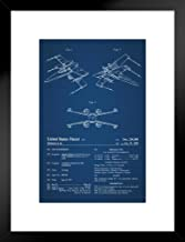 Poster Foundry Space Fighter Toy 1980 Official Patent Blueprint Official Patent Blueprint 20x26 inches Black 238726