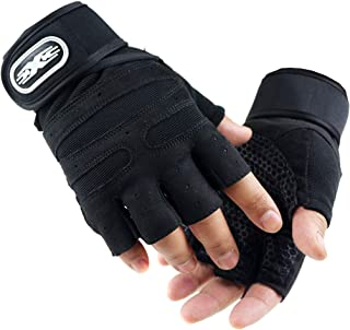 HighlifeS_Exercise Gloves Fitness Workout Gloves Comfortable Adjustable Women Men Weight Lifting Gym Sport Gloves