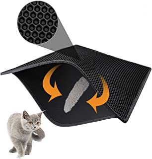 "Mumoo Bear Cat Litter Mat Litter Trapping Mat, 30"" X 24"" Inch Honeycomb Double Layer Design Waterproof Urine Proof Trapper..."