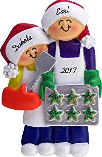 Calliope Designs Family Baking Cookies Personalized Christmas Ornament (2 People) - 4.25