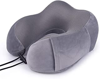 Neck Travel Pillow Memory Foam Pillow Orthopedic Pillow,Pillows for Sleeping Napping On Airplane Car Or Office Use Sleeping (Color : E)