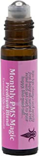 Aromata Monthly PMS Magic relief for period cramps, discomfort & moody you. Essential oil blend to balance hormones, ease muscle spasms, bloating & more. Therapeutic grade, premixed, 100% natural.