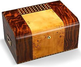 Humidors Cigar ceder trä pianofärg cigarr förvaringsbox stor kapacitet flerskikt luftfuktare cigarr (storlek: 36,5 x 25 x ...
