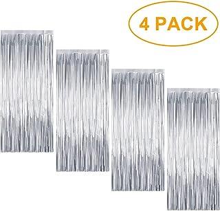 comprar comparacion 4 Piezas Cortina de Oropel MetálicaFoil Fringe Curtain Shimmer Puerta Windows Decoraciones para fiesta