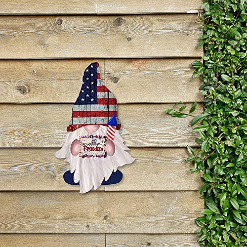 N/S Gartenzwerg Lustig Ornament Wand Tür Dekoration Handbemalt Wetterfest Unabhängigkeitstag Zwerg GNOME Anhänger Patriotische Hängende Ornament Gartendeko Figuren