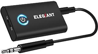 comprar comparacion ELEGIANT Transmisor Bluetooth 5.0, Adaptador 2 en 1 para TV Coche, Jack 3,5 mm Receptor Audio Música Baja Latencia en Modo...