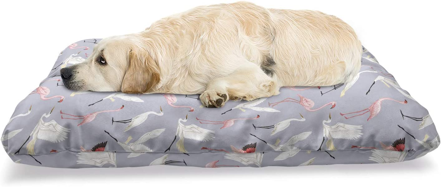 Ambesonne Flamingo Pet Max Max 86% OFF 43% OFF Bed Wild Natu Tropical Flying Life Birds