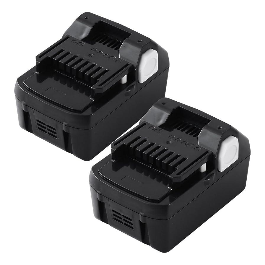 Andio 日立18vバッテリー 日立工機バッテリー 日立バッテリー 日立互換バッテリー bsl1860 6.0Ah 日立bsl1860b bsl1860 bsl1830b bsl1415純正互換対応 日立互換電池 二個セット 一年保証
