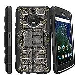 MINITURTLE Compatible with Motorola Moto G5 Plus Case | Moto G5 Plus Case Holster [Clip Armor] Hard Case Exterior Shock Resistant Corners + Stand + Belt Clip Skinny Tree Branch Camo