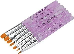 7 pinceaux ongles nail art Brosses et déco d'ongles gel UV ou acrylique