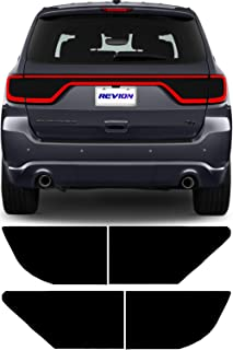 REVION Autoworks 2014-2019 Dodge Durango Tail Light Tint Kit | Precut Dark Black Smoke Vinyl Overlays for '14-'19 Dodge Durango Taillight | Tinted Dry Application Film