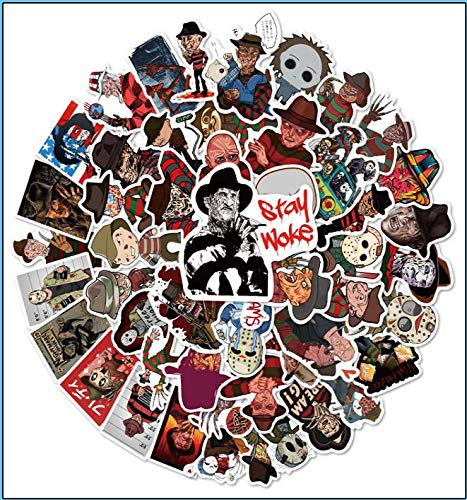 Freddy Krueger Suitcase Helmet Computer Guitar Skateboard Stickers 50 Sheets