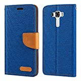 Asus Zenfone 3 Laser ZC551KL Case, Oxford Leather Wallet