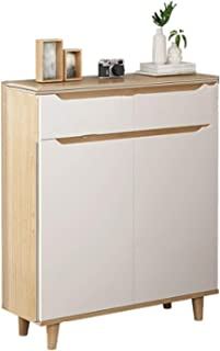 QinWenYan Placard à Chaussures Cabinet d'armoire à Chaussure Meuble d'entrée Simple Cabinet de Chaussure de Grande capacit...
