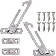 TEHAUX 1 Set Venster Restrictor Lock- Kind Veiligheid Restrictor Haak Rvs Vangen Haak Voor Raam/Deur