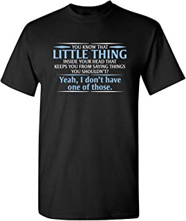 Best You Know The Little Thing Cool Graphic Sarcastic Sarcasm Novelty Funny T Shirt Review