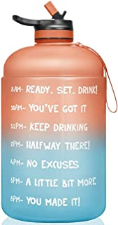 Large Capacity 2.2L Leakproof BPA Free Fitness Sports Water Bottle with Time Marker, Reusable Plastic for Gym Outdoor Camp...